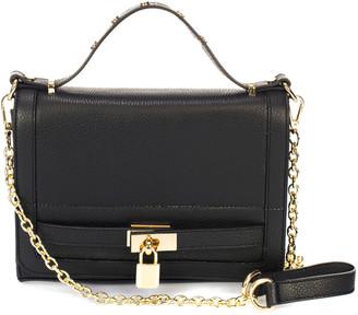 Italian Leather Giorgio Costa Turnlock Leather Crossbody