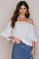 Rut & Circle Jolie frill sleeve blouse