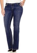 LOVE INDIGO Love Indigo Bling Fleur-de-Lis Embellished Back Pocket Jeans - Plus