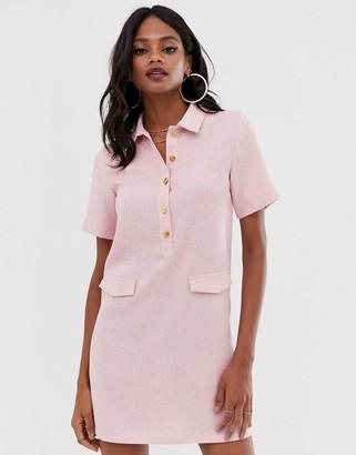 UNIQUE21 utility midi dress-Pink
