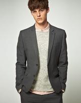 Asos Slim Fit Pinstripe Suit Jacket