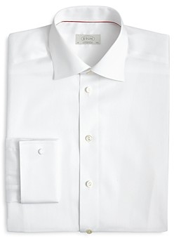 Eton Contemporary Fit Signature Twill French Cuff Dress Shirt