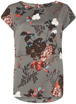 Only **Only Khaki Floral Print Top