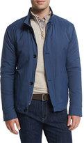 Peter Millar Mayfair Nylon Bomber Jacket, Blue