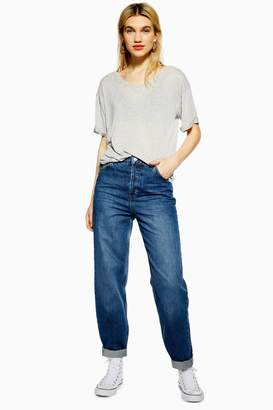 Topshop Womens Mid Blue Balloon Jeans - Mid Stone