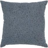"18"" x 18"" Embroidered Petal Pillow - Dark Gray/Blue"