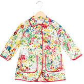 Stella McCartney Girls' Floral Print Trench Coat
