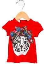 Gucci Girls' Floral Tiger Print Top