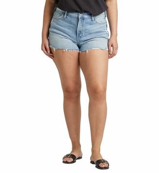 Silver Jeans Co. Women's Plus Size Frisco High Rise Shorts