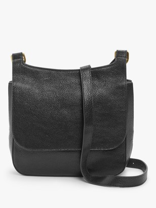 John Lewis & Partners Leather Messenger Cross Body Bag