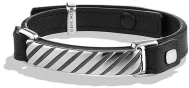 David Yurman Modern Cable ID Bracelet in Black