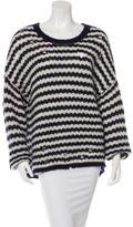 IRO Distressed Striped Sweater