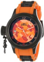 Invicta Women's 11358 Russian Diver Orange Camouflage Dial Orange Polyurethane Watch