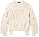 Burberry Runway Oversized Cable-Knit Cotton-Blend Sweater