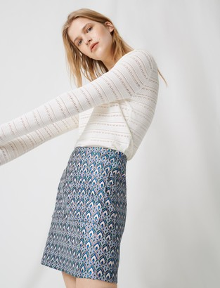 Maje Lurex jacquard skirt