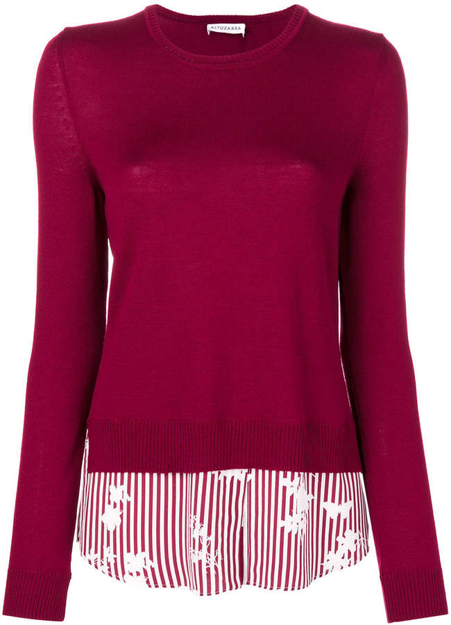 Altuzarra striped knitted top