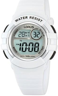 Lorus R2383HX-9 White Digital Sports Watch