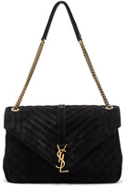 Saint Laurent Large Monogram Slouchy Suede Chain Bag