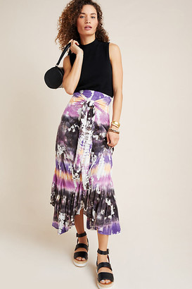 Young Fabulous & Broke Tie-Dyed Maxi Skirt By in Assorted Size S