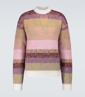 ERL Mohair-blend striped sweater