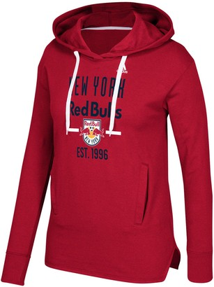 adidas Women's Red New York Red Bulls Simply Put Pullover Hoodie