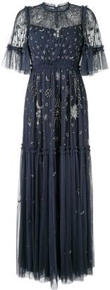Needle & Thread Star-Embellished Tulle Long Dress