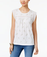 Style&Co. Style & Co Petite Embroidered Top, Only at Macy's