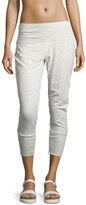 Alo Yoga Dusk Jersey Capri Jogger Pants, White Pattern