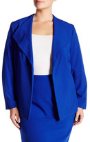 Nine West Wide Lapel Jacket (Plus Size)