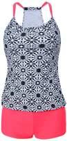 Milkuu Women's Summer Swimwear Shirred Tankini Top and Bottom Set Swimsuits