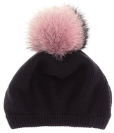 Miu Miu Fur-trimmed wool and cashmere hat