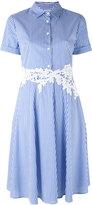 P.A.R.O.S.H. striped flared shirt dresss - women - Cotton/Polyamide/Spandex/Elastane - XXL