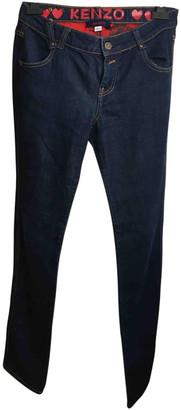 Kenzo Navy Cotton Jeans