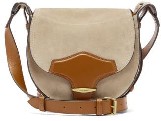 Isabel Marant Botsy Suede And Leather Shoulder Bag - Beige