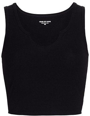 Years Of Ours Notched Detail Cropped Tank Top