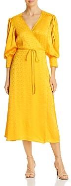Andamane Deva Tonal Print Wrap Dress