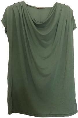 BOSS ORANGE Green Cotton Top for Women