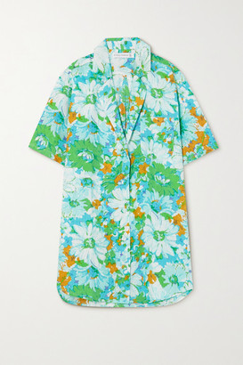 Faithfull The Brand Net Sustain Charlita Floral-print Linen Shirt - Blue