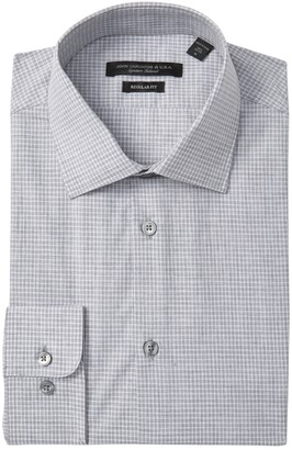 John Varvatos Check Regular Fit Dress Shirt