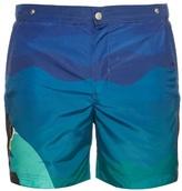 Robinson Les Bains Oxford Long Profile Swim Shorts