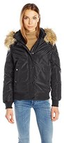 Madden-Girl Women's Hooded Bomber Jacket