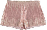 Mayoral Striped Sequin Shorts, Light Rose, Size 8-16