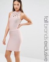 True Decadence Tall Bandage Dress With Lattice Detail