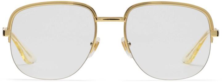 Gucci Square metal glasses