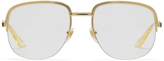 Gucci Square metal glasses
