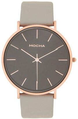 Mocha 41mm Watch -Rose