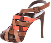 Hermes Woven Cage Sandals