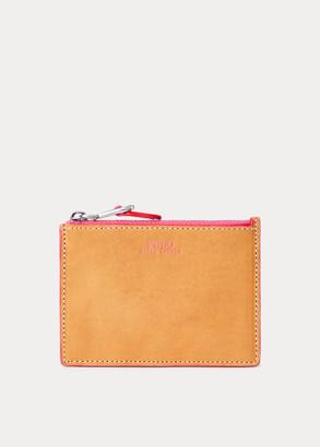 Ralph Lauren Leather Zip Card Case
