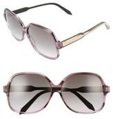 Victoria Beckham Women's Classic 61Mm Gradient Lens Square Sunglasses - Amber Tortoise