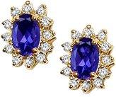 Tommaso design Studio Tommaso Design Oval 7x5mm Genuine Iolite and Diamond Earrings 14k